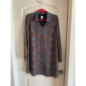 Cabi Provincial Paisley Shirt Dress M